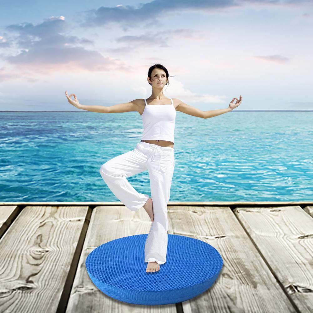 Le Yoga et Les Arts Martiaux Ingeniously Coussin de Yoga Ovale id/éal pour la physioth/érapie Coussin de Yoga antid/érapant pour lentra/înement /à l/équilibre de stabilit/é Le Pilates