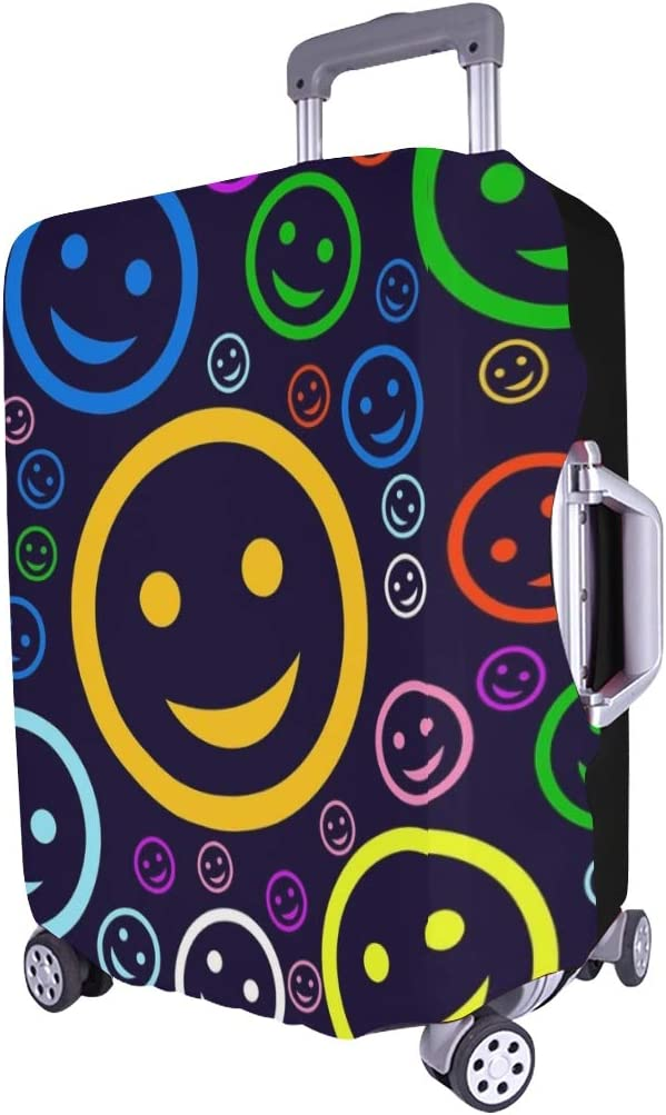 Face Spandex Trolley Case Travel Luggage Protector Suitcase Cover 28.5 X 20.5 Inch