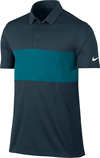 4a50daf39 Image Unavailable. Image not available for. Color: Nike Breathe Color Block  Golf Polo 2017 Armory Navy/Bluster/White Small