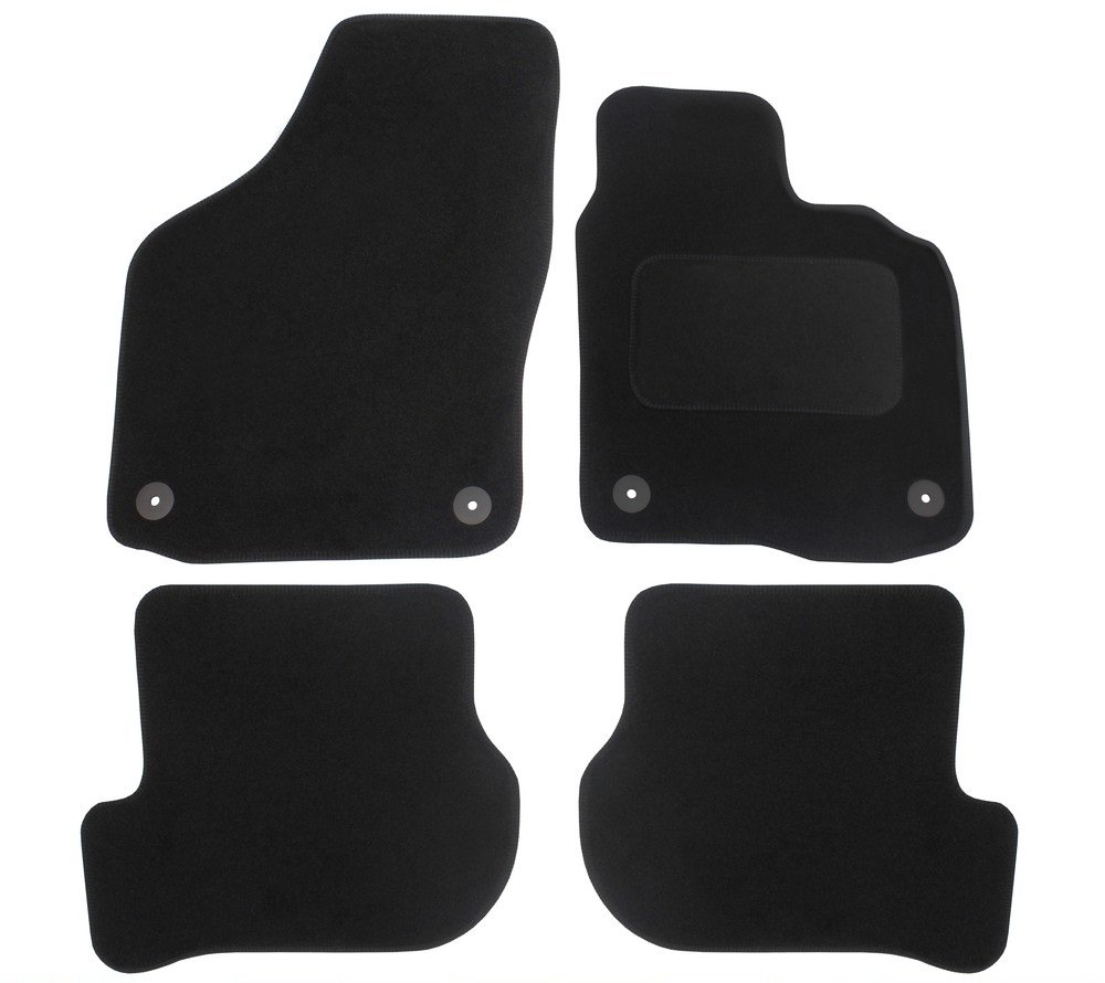 JVL Fully Tailored Car Mats with 4 Clips - Black, 4 Pieces 1352
