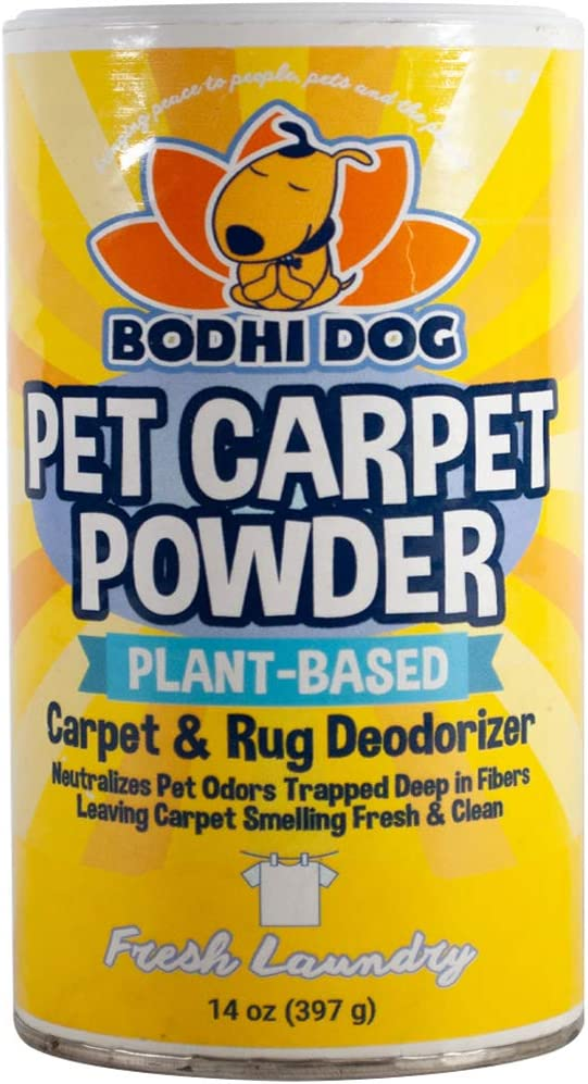 Natural Dog Odor Carpet Powder | Dry Pet Smell Neutralizer and Eliminator