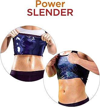 Power Slender Camiseta Reductora De Alta Compresión Térmica para Adelgazar - Modelos para Hombre y Mujer Tallas S/M y L/XL: Amazon.es: Deportes y aire libre
