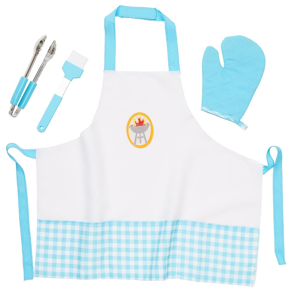 Blue Toys R Us 5F60893 Just Like Home Flip And Sizzle Grill Chef Accessory Set
