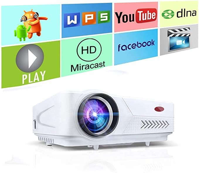 Link Co Proyector WiFi Proyector 5500 lúmenes Proyector LED ...