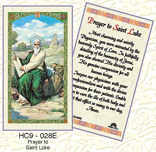 St. Luke Paper Prayer Cards - Pack of 100 - - Lukes St Stores