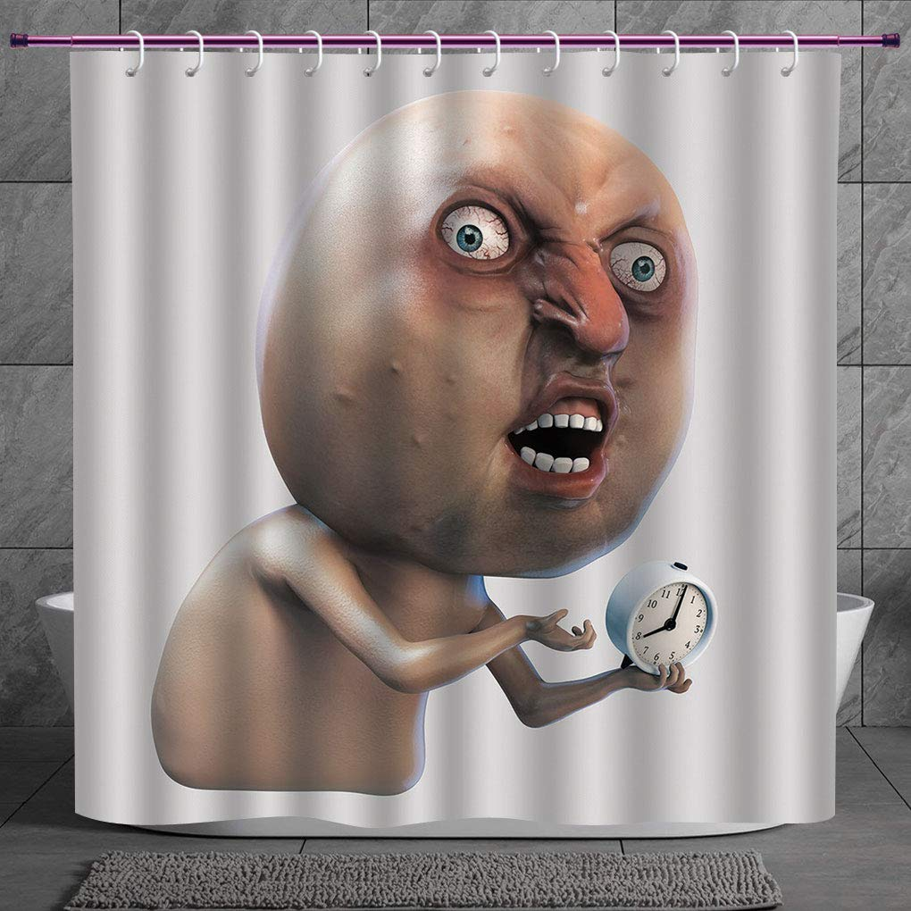 Fun Shower Curtain 2 0 Humor Decor Why You No Wake Me Up
