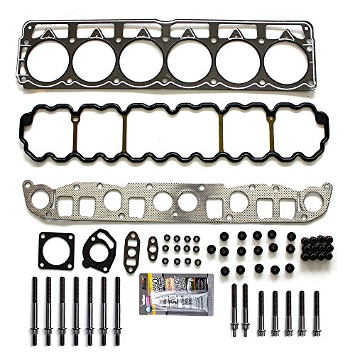SCITOO Replacement for Cylinder Head Gasket Set with Bolts fit Jeep Cherokee Jeep Grand Cherokee TJ Wrangler 4.0L 1999-2003 Engine Head Gaskets Sets Kit