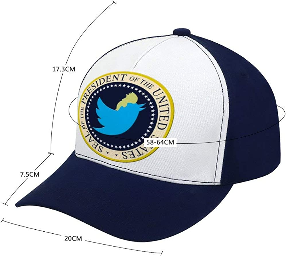 Feng Xiaoli Trumps Presidential Seal Mesh Trucker Hat Square Patch Baseball Caps Adjustable Strapback Cap