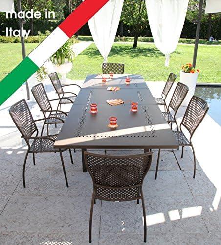 RD ITALIA Juego Mesa Helios XL Maxi Extensible y 6 sillas Queen ...