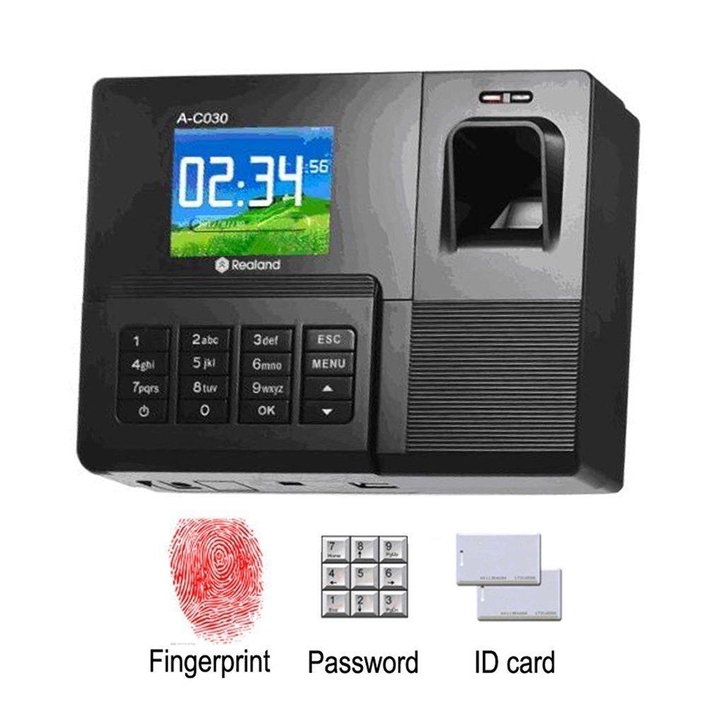 Tekit TFT Fingerprint/card/pin Attendance Time Clock Employee Payroll Recorder,12864 LCD Display, Fingerprint Sensor 500dp