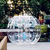 Popsport Inflatable Bumper Ball 4FT Bubble Soccer Ball 0.8mm Eco-Friendly PVC Zorb Ball Human Hamster Ball for Adults and Kids (4FT)
