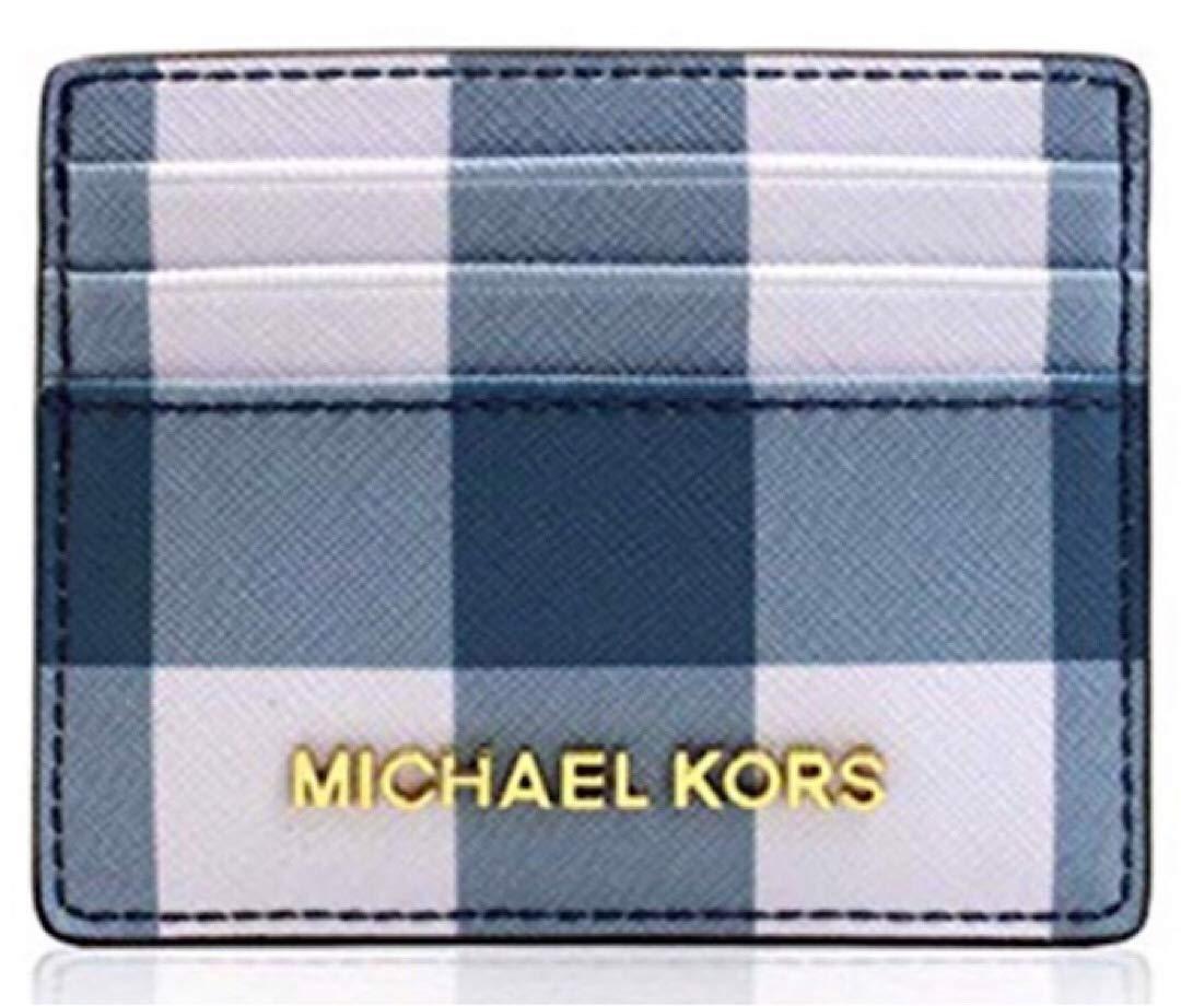Michael Kors Jet Set Travel LG Card Holder Navy/Denim/White by Michael Kors (Image #1)