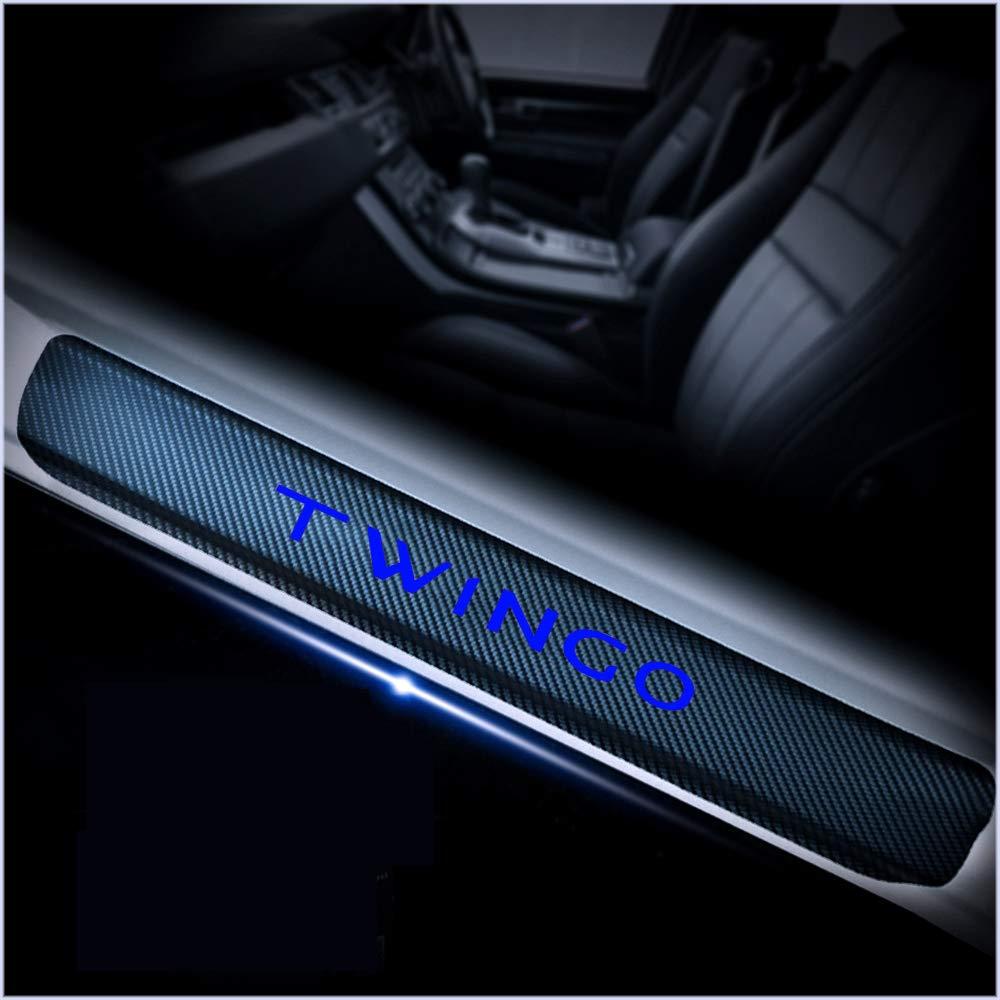 Gnnlor Auto Soglia battitacco Soglia Porta Auto Pedali per Renault TWINGO Adesivi per battitacco sul davanzale della portiera dellauto 4 Pezzi