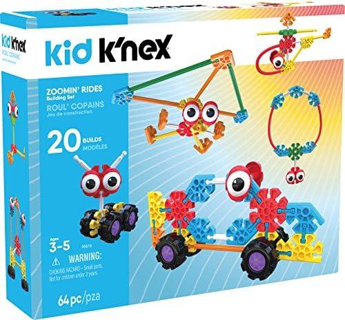 K'NEX Kid K'Nex – Zoomin' Rides Building Set – 64Piece – Ages 3 & Up Preschool Educational Toy Building Set
