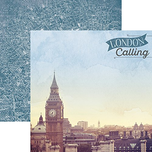 Paper House Productions P-2061E London Calling England Double-Sided Cardstock, 12