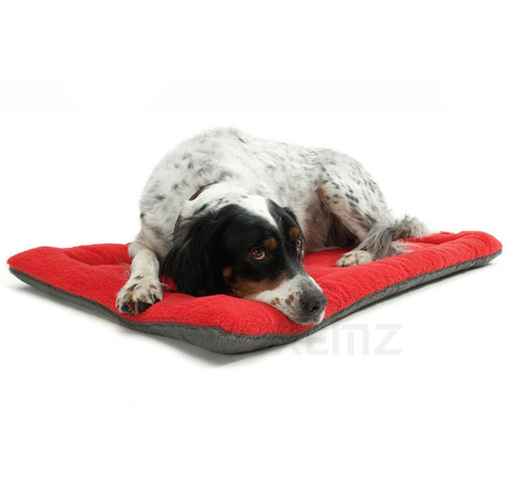 Red L red L Xemz Dog Crate Mat Washable Dog Bed Rug Mat, Dog Cat Kennel Mattress Pet Bed, Soft Warm Comfortable Home Puppy Training Pads, Luxury Non Slip Terry Bed Pet Cushion, for Small Medium Large Dogs