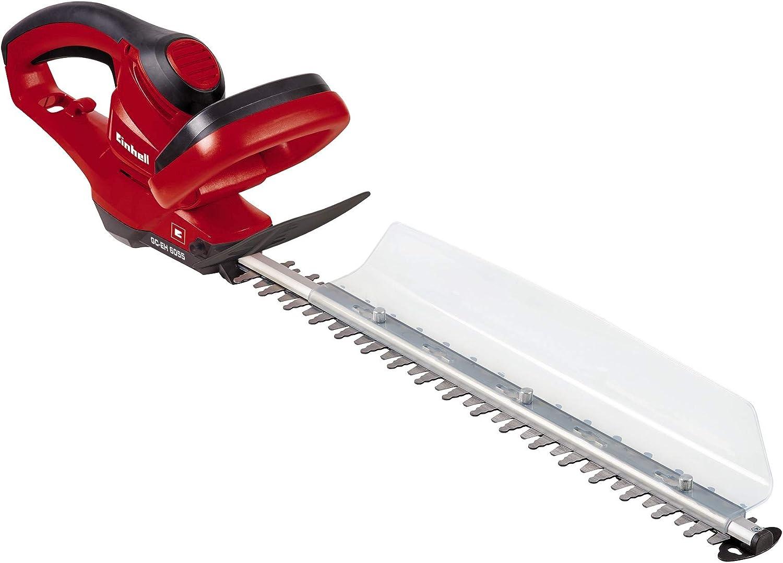 Einhell GC-EH 6055 - Recortasetos eléctrico, 600W (longitud de corte: 550mm, longitud de la hoja: 610mm, espacio entre dientes: 26mm, Corte por minuto: 3000 min-1) (ref.3403350)