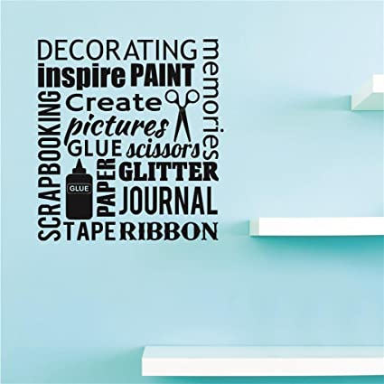Design with Vinyl US V JER 2359 2 Top Selling Decals Scrapbooking Decorating Inspire Paint Create Pictures Paper Journal Memories Wall Art Size X 16 Inches Color Black 16 x 16,