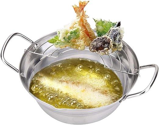 Tempura Frying Pot Fryer Sauce Pan Nonstick Cookware Kitchen Cooking Rack Tools