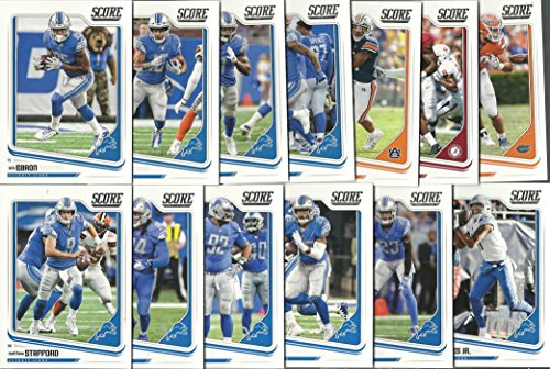 Panini 2018 Score Football Detroit Lions Team Set 13 Cards W/Drafted Rookies ()