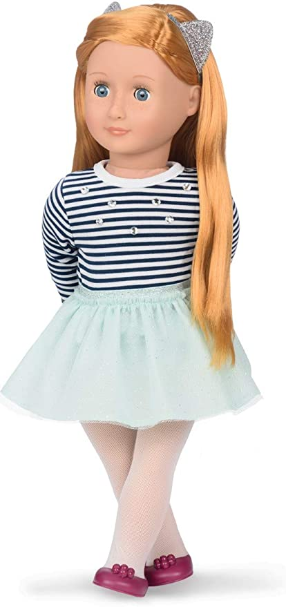 "Blue and White Striped Dress Fits 18/"" American Girl  Dolls"