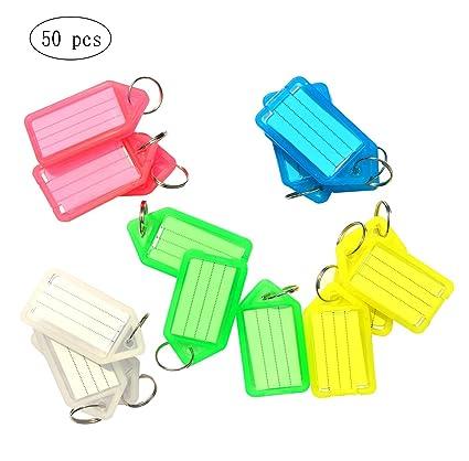 50 Unidades Llavero identificador de plástico con Etiquetas ...