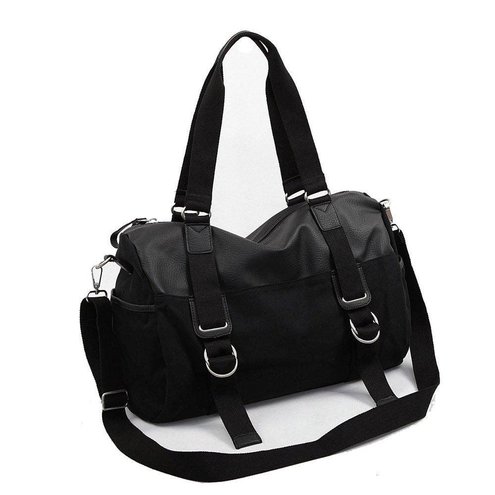 Ybriefbag Unisex Canvas Travel Bag Leisure, Men's Single Shoulder Skew Luggage Package Sports, Business Travel, Fitness Handbags, Bags. Vacation