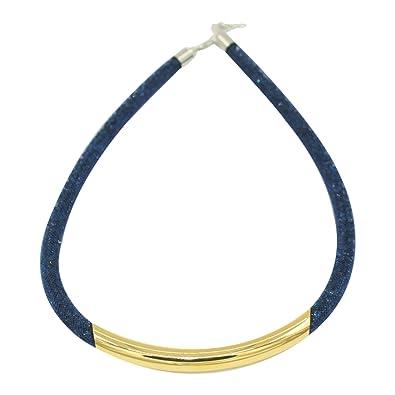 collier swarovski bleu