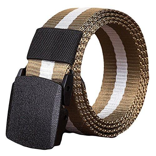 Toimothcn Nylon Canvas Breathable Military Tactical Men Waist Belt with Plastic Buckle -