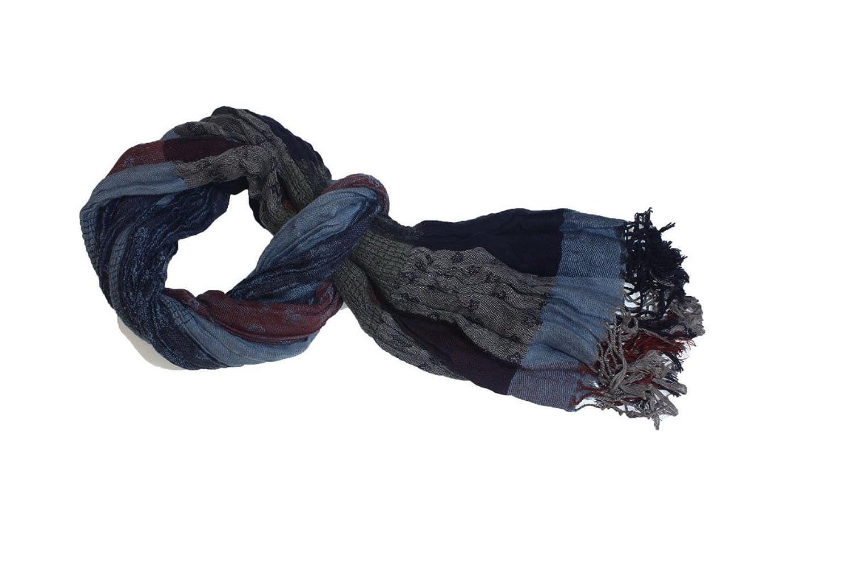 Kuugoods Womens Fashion Scarf One Size Blue Crochee