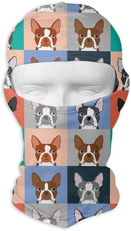 Amazon Com Boston Terrier Dog Cartoon Face Mask Breathable