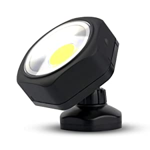 PowerFirefly 250 Lumens COB LED Rotating Work Light with Strong Magnetic Base, Ultra Bright Magnetic LED Light, Inspection Light for Car Repair, Workshop, Home Using and Emergency
