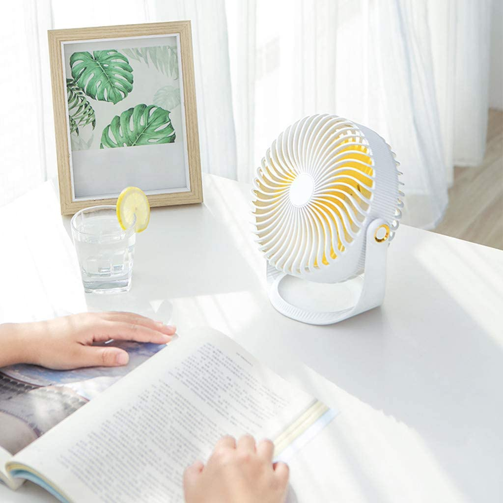 19/×11/×20 cm, Blue Table Fan Cooling Electric Fan Summer Portable Fan Mini Standing Fan 2000Mah Battery Capacity 3-Speed Wind Adjustable Fan Air Fan Weisun
