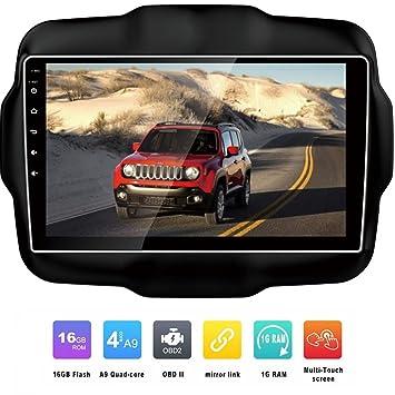 BEIDOUYH CVD9201a Android 9 pulgadas coche estéreo navegador GPS para Jeep Renegade 2015 2016 con Bluetooth