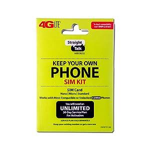 "Straight Talk 4G LTE ""Keep Your Own Phone SIM Kit"" SIM Card (Verizon, Sprint, CDMA-Compatible)"