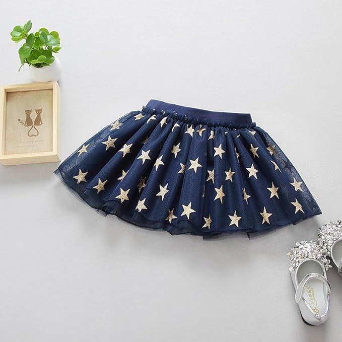 afa86db47 Kingko Skirts for Girls Cute Baby Summer Girls Stars Printed ...