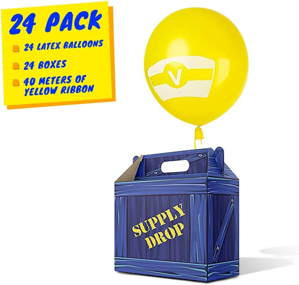 Fortnite Drop Item Button Amazon Com Birthday Party Supplies Party Favor Boxes Gaming Box Supply Drop Box Goodie Bags Video Game Box Party Supplies Battle Royale Boy Party Supplies Game Party Supplies 24 Pack Orig Design Latex