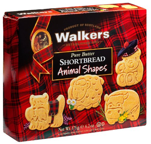 Walkers Shortbread Animal Shapes, 6.2-Ounce Boxes (Pack of 6)