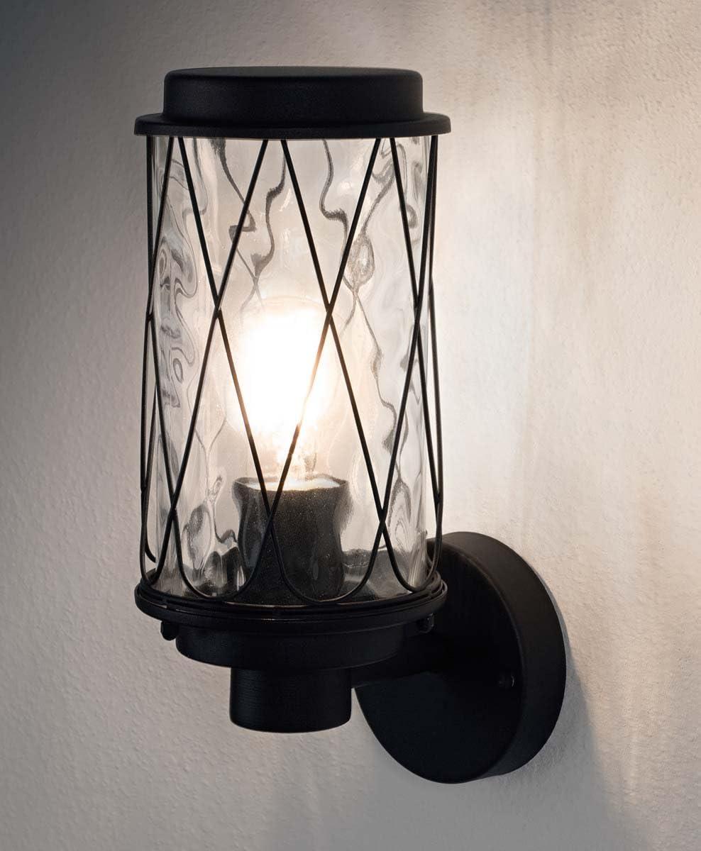 Up down MURO ESTERNO LAMPADA VETRO TERRAZZE BALCONE CASA Porta Vialetto Lampada Nero