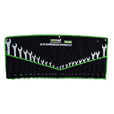 Grip 24 pc Combination Wrench Set MM/SAE [5Bkhe0411749]