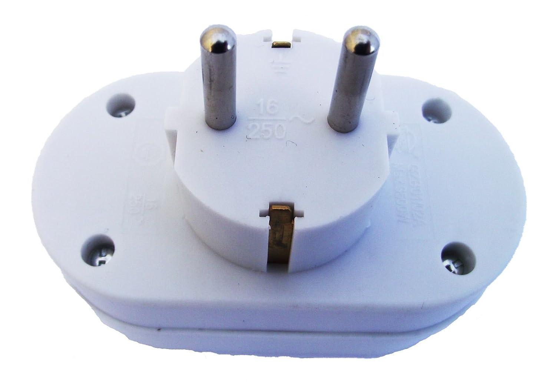 Enchufe schuko Conector Conector doble Atra Protección de contacto Distribución de conectores múltiples de 2 enchufes Báscula Derecho: Amazon.es: Bricolaje ...