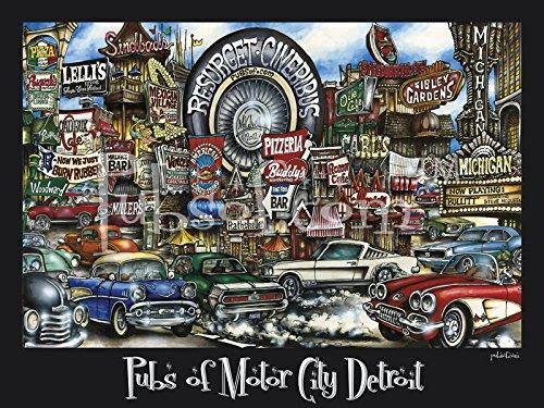 pubsOf Motor City Detroit Poster