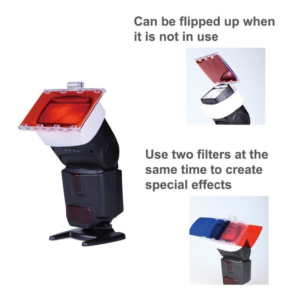 Falcon Eyes CFA-30K Flash Speedlite 30 Colors Color Gel Kit with Barndoor & Reflector & Bag for Canon Nikon YONGNUO GODOX