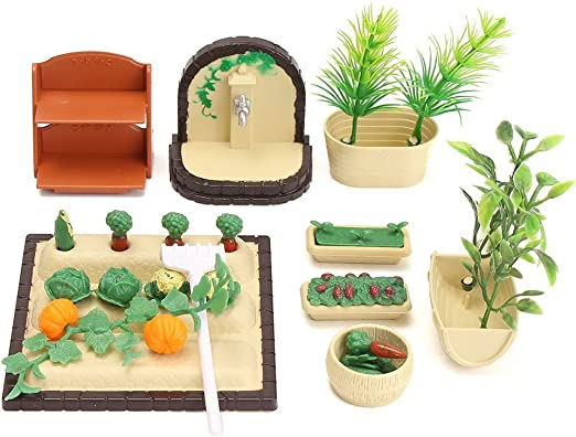 1:12 Scale Tortoises At Home With Food Dolls House Miniature Garden Accessory