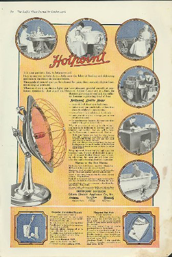 It is your patriotic duty to save coal. Hotpoint Hedlite Electric Heater ad 1918