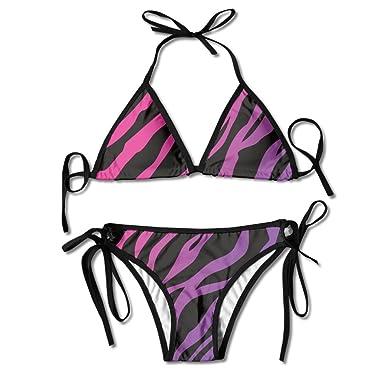 bikini Purple zebra