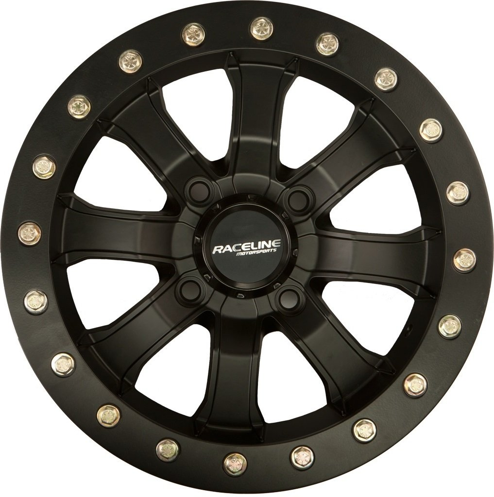 Raceline Mamba Beadlock ATV Wheels/Rims Black 14'' Polaris RZR 1000 XP / Ranger 900 XP