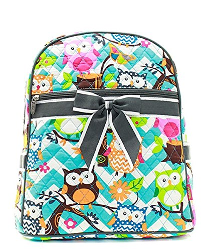 J&C Family Owned Chevron Owl Quilted 13