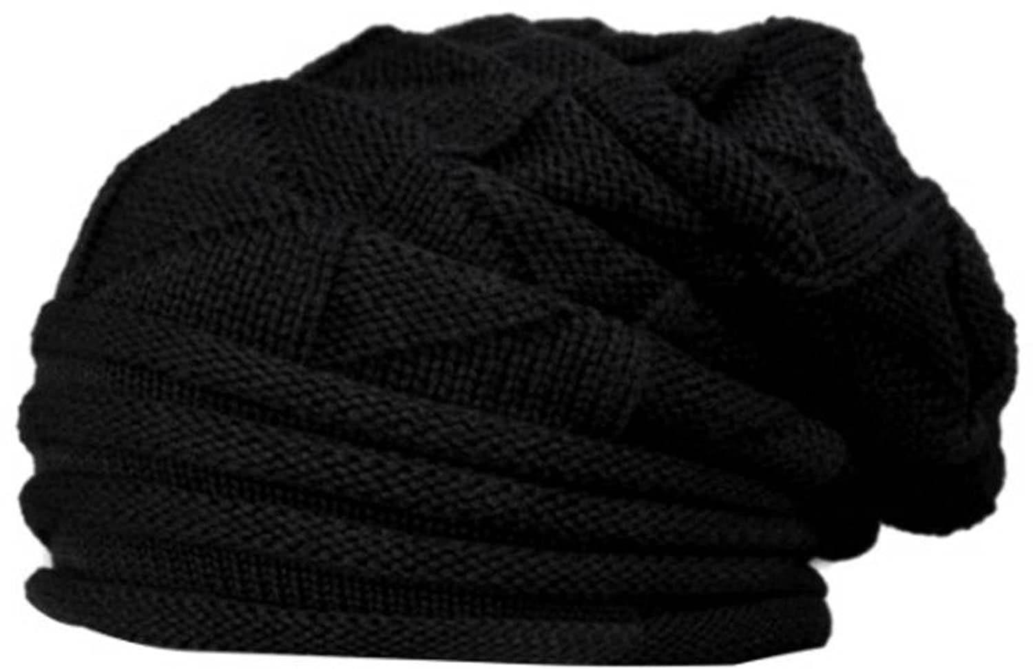0e5d23dbdde Buy Babji Black Slouchy Woolen Long Beanie Cap for Winter Online at Low  Prices in India - Amazon.in