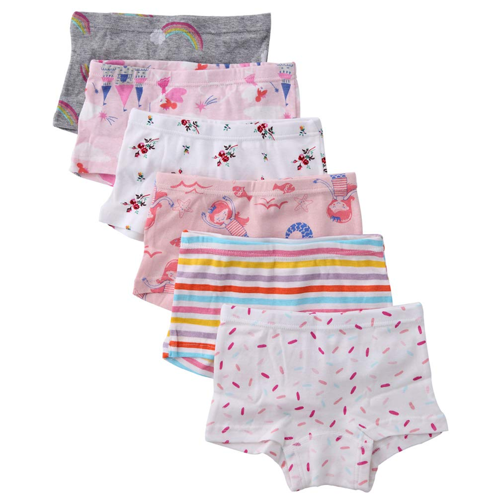 benetia Girls Underwear Soft Cotton 6-Pack